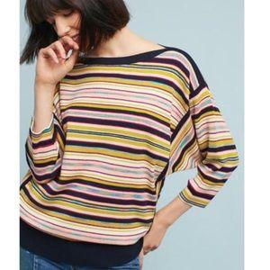 Anthropologie Moth Palma Striped Sweater Size XL